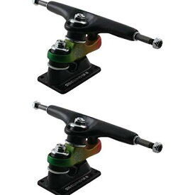 """トラック スケボー スケートボード 海外モデル 直輸入 【送料無料】Gullwing Trucks Sidewinder II Black / Rasta Skateboard Trucks - 159mm Hanger 9"""" Axle (Set of 2)トラック スケボー スケートボード 海外モデル 直輸入"""