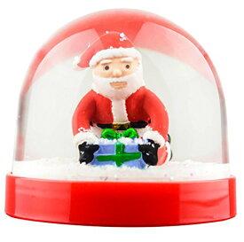 スノーグローブ 雪 置物 インテリア 海外モデル 【送料無料】Funny Christmas Snow Globe Santa Butt Crackスノーグローブ 雪 置物 インテリア 海外モデル