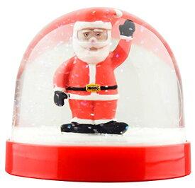 スノーグローブ 雪 置物 インテリア 海外モデル 【送料無料】Funny Christmas Snow Globe Santa Wavingスノーグローブ 雪 置物 インテリア 海外モデル