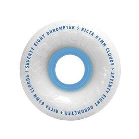 ウィール タイヤ スケボー スケートボード 海外モデル 32926 【送料無料】Ricta Clouds Skateboard Wheels (Set of 4) (White/Blue 78A, 54mm)ウィール タイヤ スケボー スケートボード 海外モデル 32926