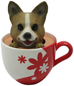 ボブルヘッド バブルヘッド 首振り人形 ボビンヘッド BOBBLEHEAD 【送料無料】Idea Max Peek-A-Pet Bobble Heads Flowers Corgi (Tea Cup)ボブルヘッド バブルヘッド 首振り人形 ボビンヘッド BOBBLEHEAD