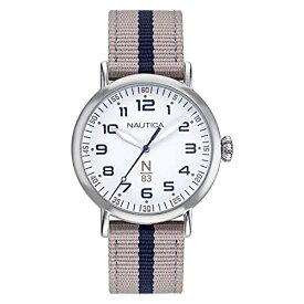 腕時計 ノーティカ レディース 【送料無料】Nautica N83 Ladies NAPWLF921 Wakeland Lady Beige/White Fabric Strap Watch腕時計 ノーティカ レディース