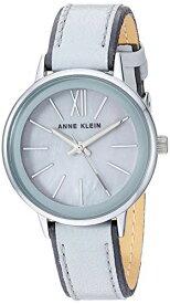 アンクライン 腕時計 レディース 【送料無料】Anne Klein Women's Silver-Tone and Light Grey Leather Strap Watch, AK/3447LGGYアンクライン 腕時計 レディース