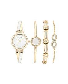 腕時計 アンクライン レディース 【送料無料】Anne Klein Women's Swarovski Crystal Accented Watch and Bracelet Set, AK/3578腕時計 アンクライン レディース