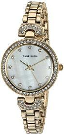 アンクライン 腕時計 レディース 【送料無料】Anne Klein Women's Swarovski Crystal Accented Gold-Tone Bracelet Watch, AK/3464MPGBアンクライン 腕時計 レディース