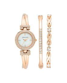 アンクライン 腕時計 レディース 【送料無料】Anne Klein Women's Swarovski Crystal Accented Watch and Bracelet Set, AK/3570アンクライン 腕時計 レディース