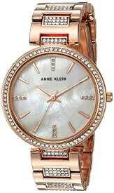 アンクライン 腕時計 レディース 【送料無料】Anne Klein Women's AK/3126BMRG Swarovski Crystal Accented Rose Gold-Tone Bracelet Watchアンクライン 腕時計 レディース
