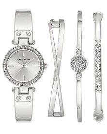 アンクライン 腕時計 レディース 【送料無料】Anne Klein Women's Swarovski Crystal Accented Silver-Tone Watch and Bangle Set, AK/3368SVSTアンクライン 腕時計 レディース