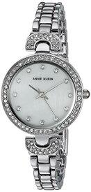 アンクライン 腕時計 レディース 【送料無料】Anne Klein Women's Swarovski Crystal Accented Silver-Tone Bracelet Watch, AK/3465MPSVアンクライン 腕時計 レディース