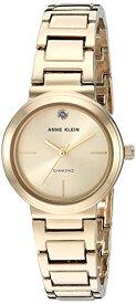 アンクライン 腕時計 レディース 【送料無料】Anne Klein Women's Genuine Diamond Dial Gold-Tone Bracelet Watch, AK/3528CHGBアンクライン 腕時計 レディース