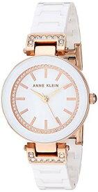 アンクライン 腕時計 レディース 【送料無料】Anne Klein Women's Swarovski Crystal Accented Rose Gold-Tone and White Ceramic Bracelet Watch, AK/3480RGWTアンクライン 腕時計 レディース