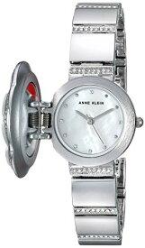 腕時計 アンクライン レディース 【送料無料】Anne Klein Women's AK/3343MPCV Swarovski Crystal Accented Floral Covered Silver-Tone Bracelet Watch腕時計 アンクライン レディース