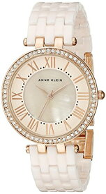 アンクライン 腕時計 レディース AK/2130RGLP 【送料無料】Anne Klein Women's AK/2130RGLP Swarovski Crystal-Accented Rose Gold-Tone and Light Pink Ceramic Bracelet Watchアンクライン 腕時計 レディース AK/2130RGLP