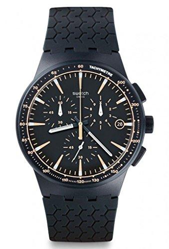 スウォッチ 腕時計 メンズ SUSN407 Swatch SUSN407 Meine Spur Blue Chronograph Date Dial Silicone Band Men Watch Newスウォッチ 腕時計 メンズ SUSN407