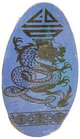 サーフィン スキムボード マリンスポーツ 【送料無料】Sunspecs Rubber Top Wooden Skimboard with Slip Free Grip (No Wax Needed!) (Blue w/Dragon, 41 Inch)サーフィン スキムボード マリンスポーツ