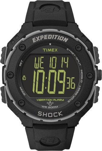 タイメックス 腕時計 レディース T49950 Timex Expedition Shock Resist XL Vibrating Alarm Watch - Blackタイメックス 腕時計 レディース T49950