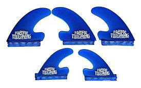 サーフィン フィン マリンスポーツ 【送料無料】PACIFIC VIBRATIONS Futures Base J Drive Surfboard fins 5 fin tri/Quad fins Set Fiberglass Resin Color Blueサーフィン フィン マリンスポーツ