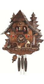 カッコー時計 インテリア 壁掛け時計 海外モデル アメリカ 【送料無料】Engstler Quartz Cuckoo Clock Black Forest House with Moving Wood Chopper and Mill Wheel, with Music EN 473 QMTカッコー時計 インテリア 壁掛け時計 海外モデル アメリカ