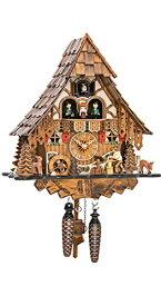 カッコー時計 インテリア 壁掛け時計 海外モデル アメリカ 【送料無料】Quartz Cuckoo Clock Black Forest house with moving wood chopper and mill wheel, with music EN 4661 QMTカッコー時計 インテリア 壁掛け時計 海外モデル アメリカ