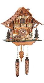 カッコー時計 インテリア 壁掛け時計 海外モデル アメリカ 【送料無料】Trenkle Quartz Cuckoo Clock Black Forest House with Moving Mill Wheel and Clock Peddler, with Music TU 478 QM HZZGカッコー時計 インテリア 壁掛け時計 海外モデル アメリカ