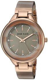 腕時計 アンクライン レディース 【送料無料】Anne Klein Women's Premium Crystal Accented Gold-Tone and Tan Resin Bangle Watch, AK/1408TNRG腕時計 アンクライン レディース
