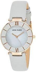 腕時計 アンクライン レディース 【送料無料】Anne Klein Women's AK/3272RGLG Premium Crystal Accented Rose Gold-Tone and Light Grey Leather Strap Watch腕時計 アンクライン レディース