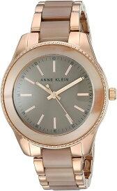 腕時計 アンクライン レディース 【送料無料】Anne Klein Women's Rose Gold-Tone and Tan Resin Bracelet Watch, AK/3214TNRG腕時計 アンクライン レディース