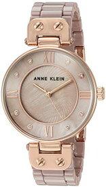 腕時計 アンクライン レディース 【送料無料】Anne Klein Women's Premium Crystal Accented Rose Gold-Tone and Taupe Ceramic Bracelet Watch, AK/3478TPRG腕時計 アンクライン レディース