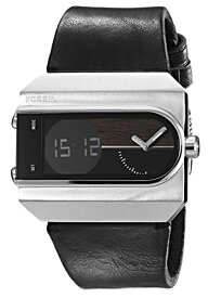 腕時計 フォッシル メンズ 【送料無料】Fossil Men's JR1477 Ellwood Digital Leather Watch - Black腕時計 フォッシル メンズ