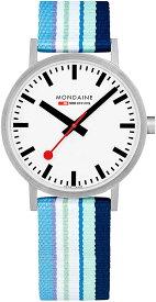 腕時計 モンディーン 北欧 スイス メンズ 【送料無料】Mondaine Classic 40mm Blue Purple Stripe腕時計 モンディーン 北欧 スイス メンズ