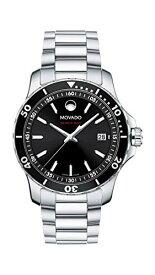腕時計 モバード メンズ 【送料無料】Movado Men's Series 800 Sport Stainless Watch with Printed Index Dial, Silver/Black (Model 2600135)腕時計 モバード メンズ