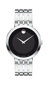 腕時計 モバード メンズ 【送料無料】Movado Men's Esperanza Stainless Steel Watch with a Concave Dot Museum Dial, Silver/Black (607057)腕時計 モバード メンズ