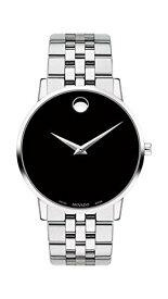 腕時計 モバード メンズ 【送料無料】Movado Men's Museum Stainless Steel Watch with Concave Dot Museum Dial, Silver/Black (Model 607199)腕時計 モバード メンズ