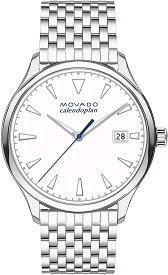 腕時計 モバード レディース 【送料無料】Movado Women's Heritage Stainless Steel Watch with Printed Index Dial, Silver/White (Model 3650045)腕時計 モバード レディース