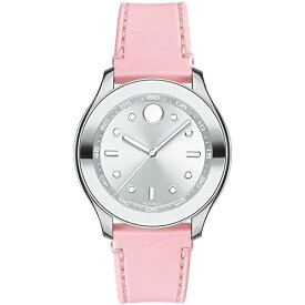 腕時計 モバード レディース 【送料無料】Movado Women's Stainless Steel Swiss-Quartz Watch with Rubber Strap, Pink, 19 (Model: 3600414)腕時計 モバード レディース