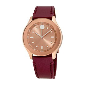 腕時計 モバード レディース 【送料無料】Movado Bold Rose Dial Burgundy Rubber Ladies Watch 3600429腕時計 モバード レディース