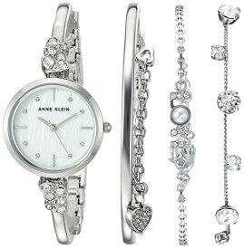腕時計 アンクライン レディース 【送料無料】Anne Klein Women's Swarovski Crystal Accented Silver-Tone Bangle Watch and Bracelet Set, AK/3431SVST腕時計 アンクライン レディース