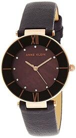 腕時計 アンクライン レディース 【送料無料】Anne Klein Women's AK/3272RGPL Swarovski Crystal Accented Rose Gold-Tone and Dark Plum Leather Strap Watch腕時計 アンクライン レディース