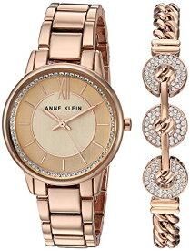 腕時計 アンクライン レディース 【送料無料】Anne Klein Women's Swarovski Crystal Accented Rose Gold-Tone Watch and Bracelet Set, AK/3520RGST腕時計 アンクライン レディース