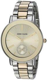 腕時計 アンクライン レディース 【送料無料】Anne Klein Women's Swarovski Crystal Accented Two-Tone Bracelet Watch, AK/3485CHTT腕時計 アンクライン レディース
