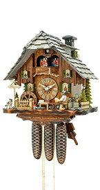 カッコー時計 インテリア 壁掛け時計 海外モデル アメリカ 【送料無料】Kammerer Uhren Hekas Cuckoo Clock Black Forest House with Moving Beer Drinker and Mill Wheelカッコー時計 インテリア 壁掛け時計 海外モデル アメリカ