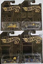 ホットウィール マテル ミニカー ホットウイール 【送料無料】Hot Wheels 50th Anniversary Black & Gold Collection 1:64 - Bone Shaker, Twin Mill, Rodger Dodger & Dodge Dart Set of 4 Diecast Model Car by ホットウィール マテル ミニカー ホットウイール