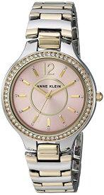 腕時計 アンクライン レディース 【送料無料】Anne Klein Women's Premium Crystal Accented Two-Tone Bracelet Watch, AK/1855PKTT腕時計 アンクライン レディース