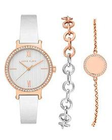 腕時計 アンクライン レディース 【送料無料】Anne Klein Women's Premium Crystal Accented Rose Gold-Tone and Silver-Tone Bangle and Bracelet Set, AK/3733RTST腕時計 アンクライン レディース