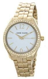 腕時計 アンクライン レディース 【送料無料】Anne Klein Women's White Dial Gold Tone Bracelet Quartz Watch AK/2448WTGB腕時計 アンクライン レディース