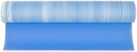 ヨガマット フィットネス 【送料無料】YogaAccessories Natural Collection Non Slip Textured Grip Mandara Mat - Blue and Whiteヨガマット フィットネス