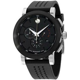腕時計 モバード メンズ 【送料無料】Movado Museum Men's Watch - Black腕時計 モバード メンズ