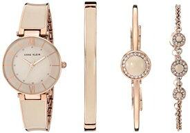 腕時計 アンクライン レディース 【送料無料】Anne Klein Women's Premium Crystal Accented Blush Pink and Rose Gold-Tone Watch with Bracelet Set, AK/3514BHST腕時計 アンクライン レディース