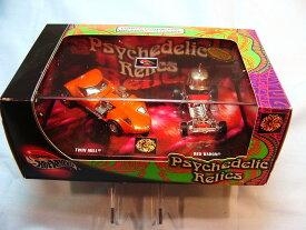 ホットウィール マテル ミニカー ホットウイール 【送料無料】Hot Wheels 2002 2 Car Box Set Psychedelic Relics with The Twin Mill and The Red Baronホットウィール マテル ミニカー ホットウイール