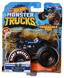 ホットウィール マテル ミニカー ホットウイール 【送料無料】Hot Wheels Monster Trucks 1:64 Scale Twill Mill 8/75 Includes Crushable Car, Blueホットウィール マテル ミニカー ホットウイール